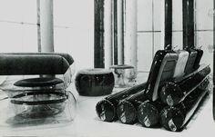 Pneumatic furniture design, c. 1967.