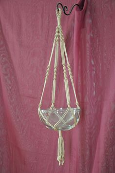 Hand Crafted Macrame Plant Hanger Pecan by macramemarket on Etsy, $9.99