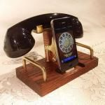 Handcrafted iPhone Dock with Retro Bluetooth ...