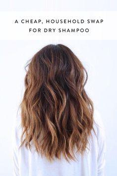 A Cheap Household Swap for Dry Shampoo via @PureWow