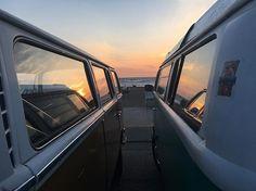 Liked on InstaGram: Surfs up #oceanbeach #laskombis #71vwbus #aircooled #vw #vwlove #volkswagen #buslife #kombi #baywindow #type2 #71bay #california #vwclassic #hippiebus #1971 #vwbus #vwtransporter #sunset #motherearth