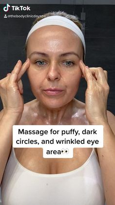 How to massage your eye are Massage Tips, Face Massage, Massage Therapy, Yoga Facial, Face Yoga Exercises, Beauty Tips For Glowing Skin, Gewichtsverlust Motivation, Skin Care Remedies, Face Skin Care