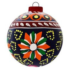 These extraordinary ceramic ornaments, charming and full of warmth, will make a splendid addition to any Christmas tree.  Each ornament has been hand-painted in colorful strokes by skilled artisans in Jalisco, Mexico.