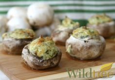Wildtree's Cheesy Spinach Dip Stuffed MushroomsRecipe