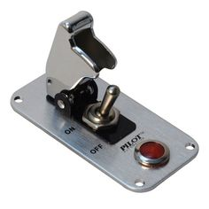 Pilot Automotive Performance Chrome Safety Cover Toggle Switch with Red Indicator Light Switch Plate Covers, Switch Plates, Led Light Switch, Volkswagen, 12 Volt Led, 12v Led Lights, Safety Cover, Truck Accessories, Motorcycle Accessories