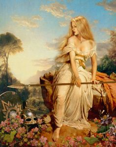 Freya is the goddess of war, love, and fertility. She is the daughter of the sea god Njord, and sister to Frey. She knows many different powerful magics, which she taught to a select group of gods, including Odin.