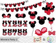 Digital Red Minnie Birthday Party Clip Art Red Minnie Clip Art Red Minnie Clipart Minnie Numbers Clip Art Minnie Balloon Minnie Banner 0176
