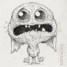Morning Scribbles Kawaii! Cute monster critter doodles Chris Ryniak http://chrisryniak.com/