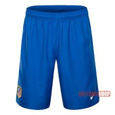 Special Offer: High Quality Atletico Madrid Blue Soccer Shorts 2016-2017 Home | Soccero-Shop