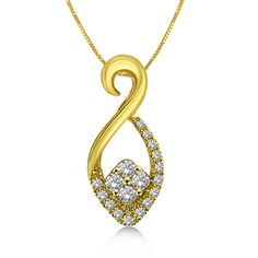 A modern twist to traditional Indian motif, this pendant in 18K yellow gold is the statement of the season.