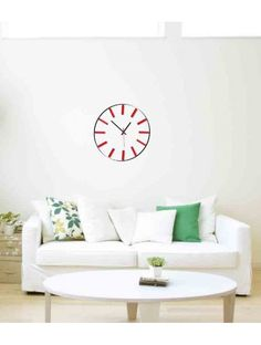 Beautiful wall clock-ALLARD-color: white, red Reference:  X0002 - RAL9010-RAL3000 Condition:  New product  Availability:  In Stock  Time to change! Decorating watches will revive every interior, highlight the charm and style of your space. Discover your living with new clocks. Plexiglass wall clocks are a wonderful decoration of your interior.