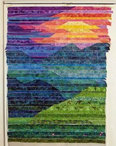 Cathy Geier's Quilty Art Blog: Making Blue Ridge Mountain Sunset #LandscapeMountain