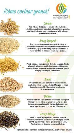 Como cocinar granos