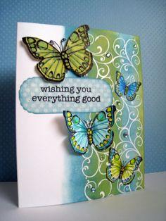 butterfly card by Li