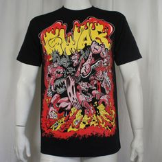 Authentic-GWAR-Band-Bloody-Florescent-Logo-Dave-Brockie-T-Shirt-S-2XL-NEW