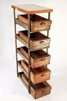 Upcycled Industrial Style Drawers by hundredacre on Etsy, $575.00