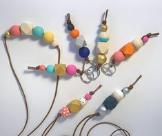 Wooden Bead Keychains  #DIY #gifts #keychains #easy #crafts #beads