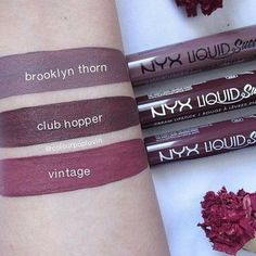 NYX Liquid Suede - Brooklyn Thorn / Club Hopper / Vintage