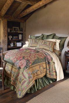 Mas La Barque Tapestry Coverlet - Unlined Coverlet, Florentine Scrolls, Pure Cotton | Soft Surroundings