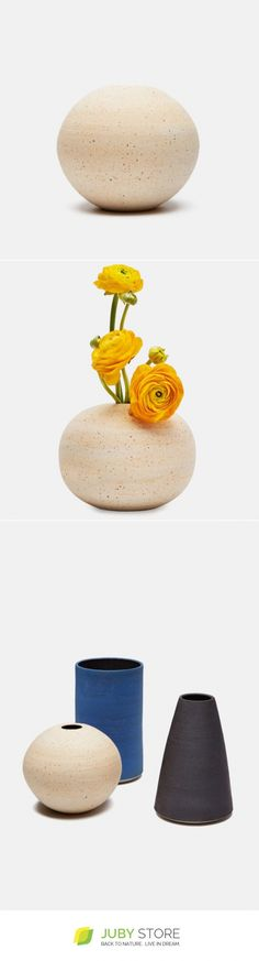 Victoria Morris Matte White Round Vase - JubyStore - minimalist, minimal design, natural material, modern design