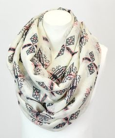 Look what I found on #zulily! Coral Stamp Infinity Scarf by Leto Collection #zulilyfinds