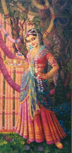 Sri Radharani : Her eyes are only for Krishna. Krishna Leela, Cute Krishna, Krishna Radha, Radha Rani, Krishna Drawing, Krishna Painting, Lord Krishna Images, Radha Krishna Pictures, Hindus