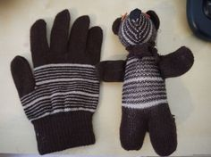 Craft Tutorial: Turn a Glove into a Plush Bear ... How to make a tatty old glove into a soft and cuddly toy for your kid.
