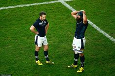 Greig Laidlaw and Josh Strauss cannot hide their disappointment after Scotland's cruel last minute loss to the Wallabies