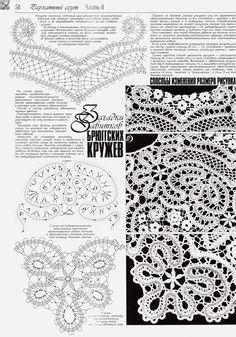 "Photo from album ""Дуплет on Yandex. Crochet Doily Patterns, Crochet Motif, Crochet Designs, Crochet Doilies, Crochet Lace, Bruges Lace, Russian Crochet, Irish Crochet, Romanian Lace"