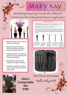 We have fabulous make up brushes Mary Kay Brushes, Mary Kay Inc, Selling Mary Kay, Mary Kay Party, Mary Kay Cosmetics, Pink Bubbles, Love Your Skin, Beauty Consultant, Mary Kay Makeup