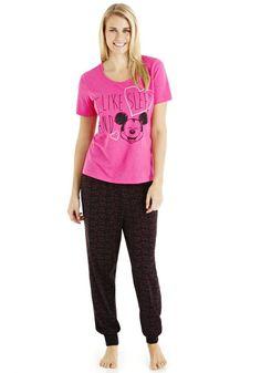 Clothing at Tesco | Disney Minnie Mouse I Like Sleep Pyjamas  nightwear  Nightwear  Slippers  Women