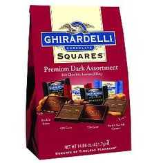 Ghirardelli Chocolate Squares, Dark Chocolate Bar, Chocolate Treats, Chocolate Lovers, Chocolates, Ruffles Potato Chips, Individually Wrapped Candy, Sea Salt Caramel, Candy Dishes