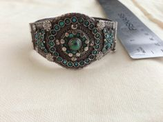 Antique Bukhara Bracelet Silver And Turquoise Very Fine