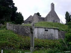 Old Kilgobbin Church Co Dublin - Built on an ancient site named after St Gobban, Kilgobbin Church stands atop a grassy hill and still stands out against the plethora of modern housing that has been allowed to surround it below. At the base of the Hill stands a 12th century High cross one of the remnants of the old site which is now being worn away by the sands of time. This present Church is only a few hundred years old  but fell into ruin following the union of churches in the area in 1826.
