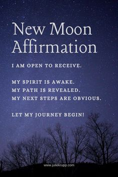 New Moon Affirmation - Sleep Rituals, New Moon Rituals, Full Moon Ritual, The Witcher, Moon Spells, Wiccan Spells, Magic Spells, Witchcraft, Real Spells
