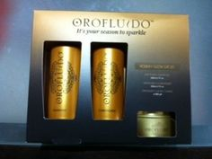 Orofluido Holiday Glow Gift Set by Orofluido. $28.49. Beautiful Luxury Candle. Excellent Gift. Includes Shampoo and Conditioner. Orofluido Holiday Glow Gift Set includes: Orofluido Shampoo 200ml 6.7 fl. oz.; Orofluido Conditioner 200ml 6.7 fl. oz.; Orofluido Luxury Candle - a free gift.. Save 29% Off!