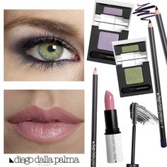 Violet shades for green eyes. Makeup by diego dalla palma milano