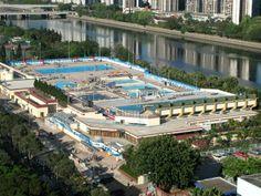 Public swimming pool complex Hong Kong  #infrastructure #public #swimming #pool #complex #hong #kong #photography