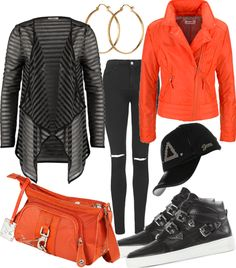 Orange Clou #fashion #style #look #dress #mode #outfit