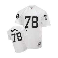 64cf06762 Ronnie Lott Men s Authentic White Jersey  Mitchell and Ness NFL Oakland  Raiders Road Throwback