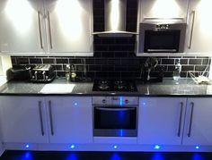 black gloss kitchen tiles - Google Search