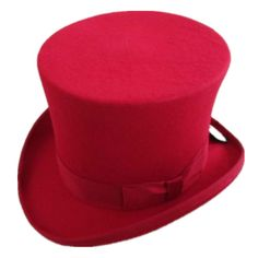 Mens Womens Victorian Steampunk Red Black White Wool Top Hat Fedora Mad  Hatter Top f21d00a3e0d3