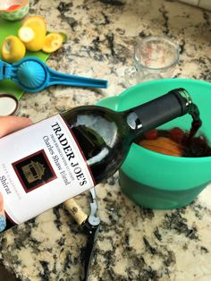 Easy Red Wine Sangria Recipe - The Spirited Thrifter Trader Joe's Wine, Red Wine Sangria, Pitcher Drinks, Fruit Slice, Raspberry Lemonade, Sangria Recipes, Grapefruit Juice, Simple Syrup, Summer Drinks