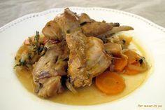 Per sucar-hi pa: Conejo en escabeche Spanish Cuisine, Spanish Food, Cook At Home, Pork, Turkey, Cooking Recipes, Beef, Chicken, Google