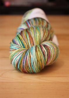 One of a kind skein of hand dyed silk/merino wool yarn by phydeaux designs :) - gorgeous!