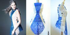 Incredible Dress 3D Printed With The 3Doodler Pen by Fashion House SHIGO http://3dprint.com/12194/shigo-3d-print-dress-3doodler/