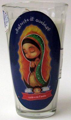 Veladora Virgencita de Guadalupe - Cuida a mi Familia - Virgin of Guadalupe Candle $2.50