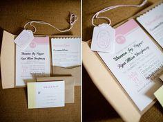 invitation pocket, craft paper  Katelyn James Photography