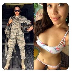 We find and share these 69 beautiful ARMY women with and without uniform in which all these are looking so powerful with stunning and attractive looks. Sexy Bikini, Bikini Swimwear, Female Army Soldier, Outdoor Fotografie, Hot Girls, Military Girl, Military Women, Girls Uniforms, Belle Photo