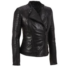 Marc New York Asymmetrical Leather Moto Jacket w/Quilting Was: $900.00                     Now: $479.99